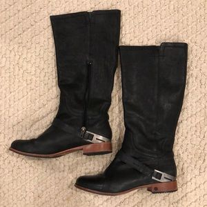 UGG black leather boot